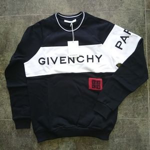 GIVENCHY PARIS SWEATER MEN CASUAL NWT %100 COTTON